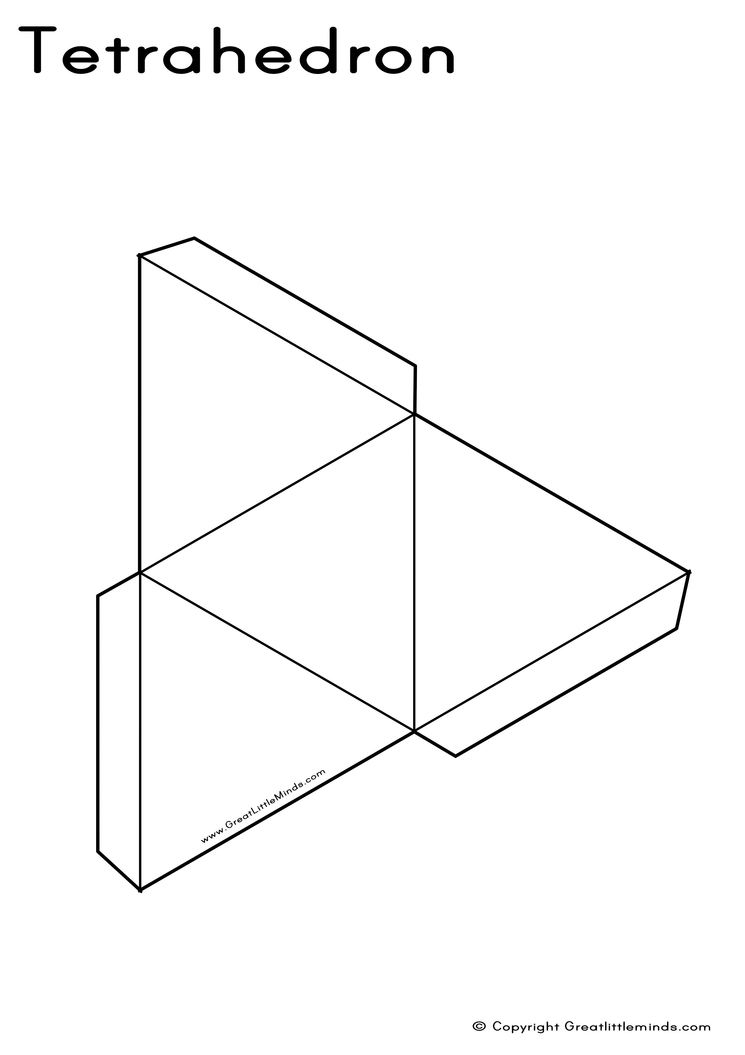 Worksheets Geometric Nets Worksheets 3d nets tetrahedron or click here for