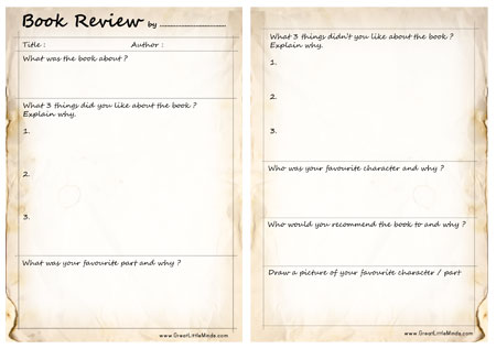 Review Template – Book Review Template