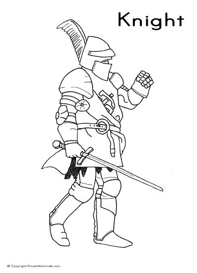 free medieval knights coloring pages
