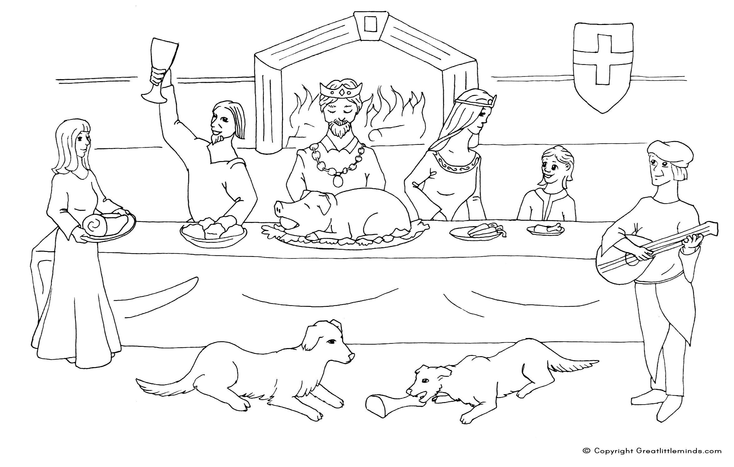 free banquet coloring pages
