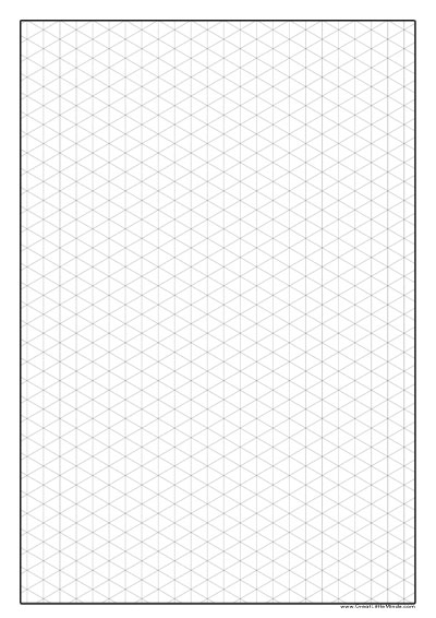 Graph Paper To Print - Isometric Paper