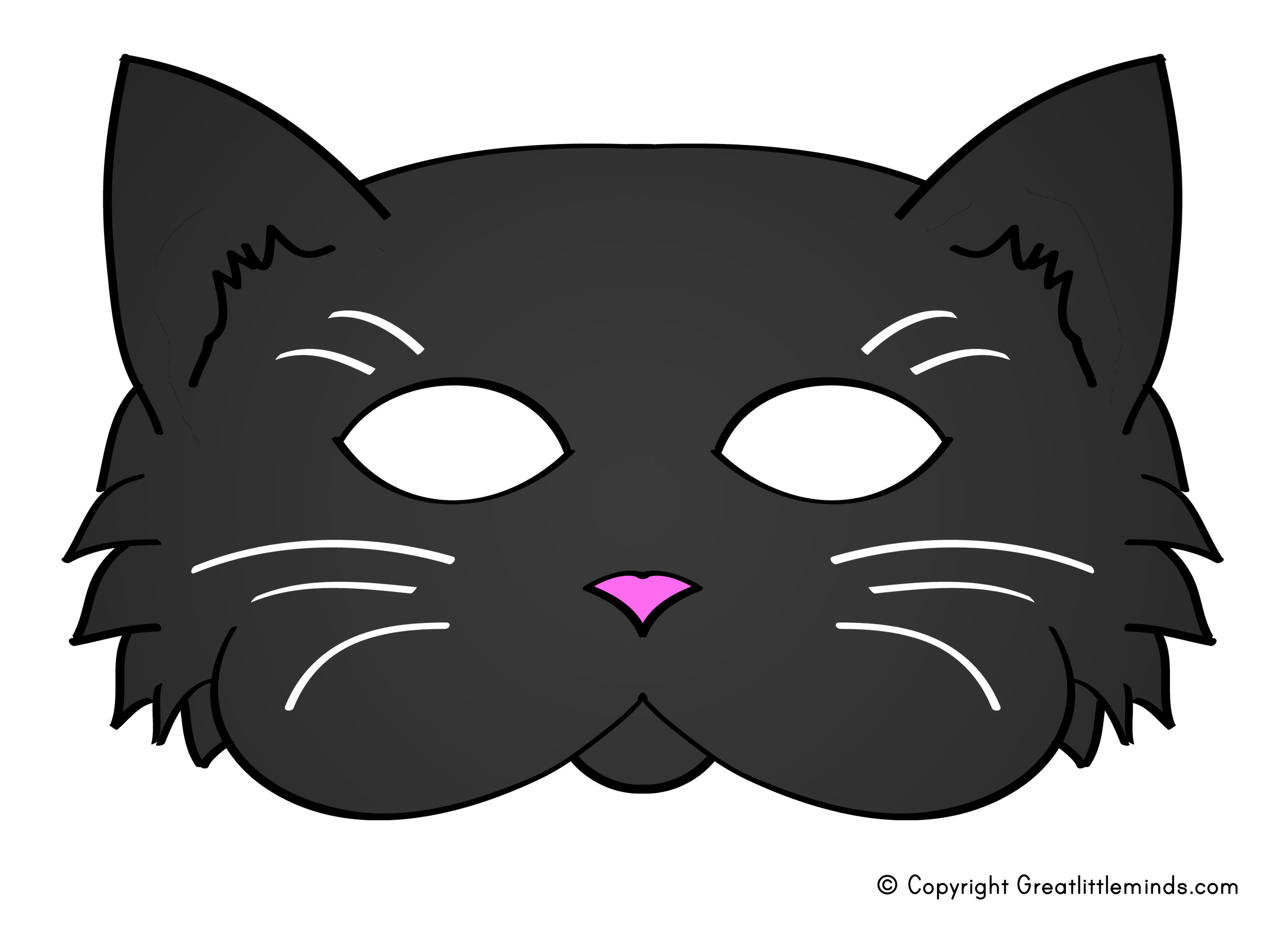 how to draw a cat mask