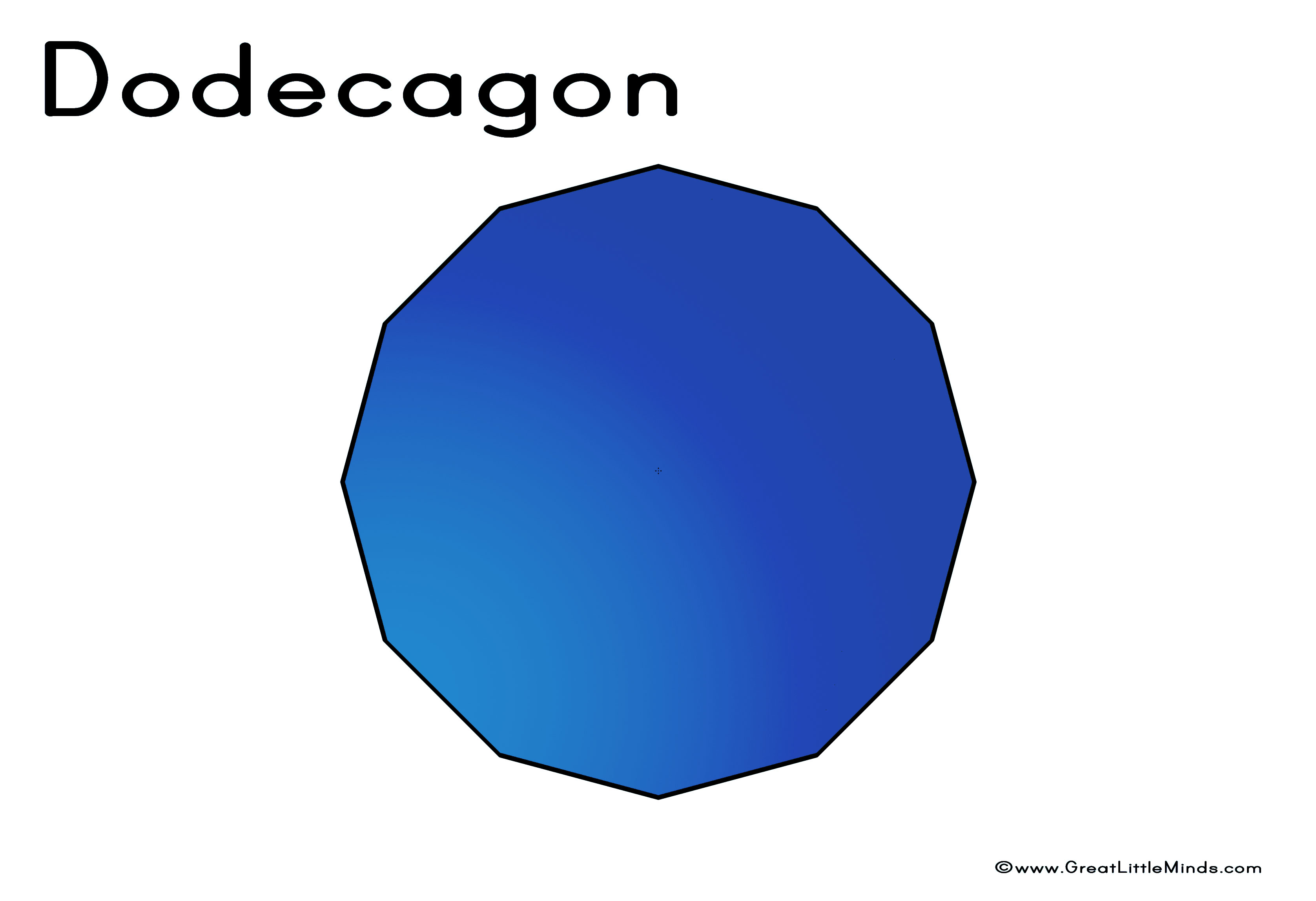 The gallery for --> Dodecagon Shape 12 Sides